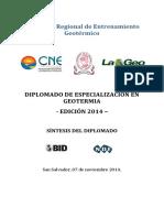 Memoria Labores Diplomado-2014
