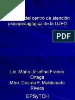 Proyecto Del Centro de Atención Psicopedagógica de La