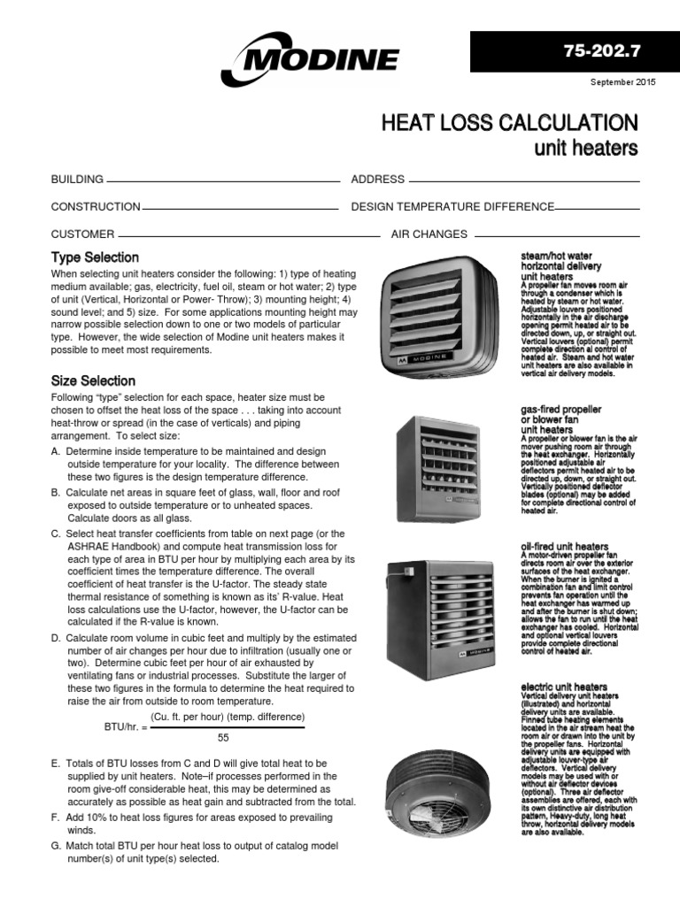 Modine heating Calculation | Hvac | Water Heating