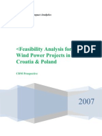 Report on Wind Power Potential in Crotia & Poland