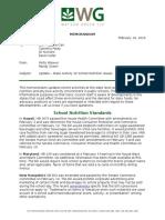 Status Report on School Nutrition State Legislation 021616