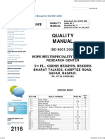 Quality Manual for ISO 9001_2008 - Quality Manual