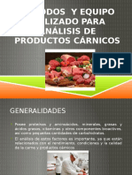 Métodos y Equipo Utilizado Para Análisis de Productos Carnicos