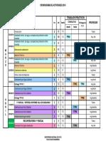 UNC Cronograma 2016 de