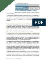 Los Problemas de La Contaminación Ambiental y Humana EJE AMBIENTE
