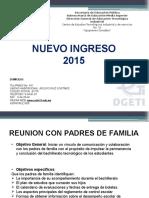 Presentación Nuevo Ingreso 2015 CETIS 15
