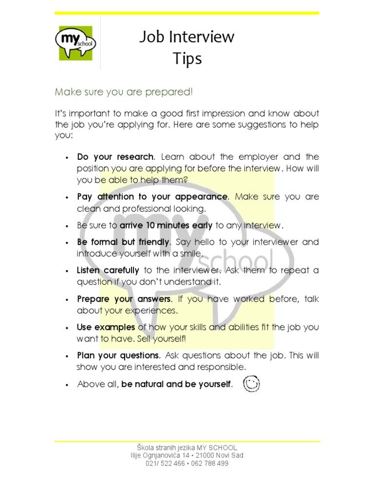 Work U0026 Travel   Interview Questions (My School Workshop) | Job Interview |  Psychological Concepts