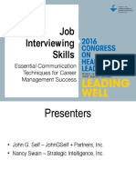 Job Interview Skills Workshop (Congress 2016)