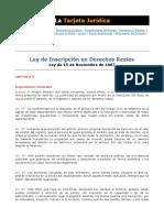Ley de Inscripción en Derechos Reales
