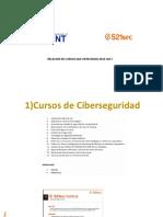 relacion de cursos s21sec de ciberseguridad 2016-2017