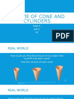 volume of cone and cylinders