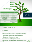 Current Status of Municipal Solid Waste Generation in Malaysia (2009)