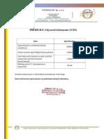 Glycerol tristearate (GTS) - Chemiglob .com- Product sheet  Chemiglob.com