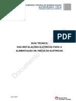 Guia Técnico Das Instalações Elétricas Para a Alimentação de Veículos Elétricos