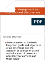 Session 4 Strategic Management and Organizational Effectiveness
