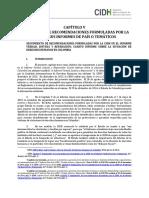 Informe Anual CIDH, Capítulo Colombia