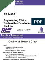 ES 4498G Lecture 2 - 2010