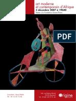 Catalogo de Venta Arte Africano Moderno y Contemporáneo