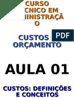 Aula Um Oficial - CUSTOS E ORÇAMENTOS