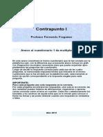 Contrapunto I - Anexo Al Cuestionario 1 de Multiple Choise