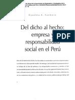 Del Dicho Al Hecho Responsabilidad Social en El Perú