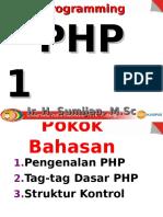 Pertemuan-4 (Dasar PHP)