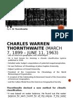C. W. Thornthwaite