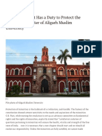 The Government Has a Duty to Protect the Minority Character of Aligarh Muslim University _ the Wire