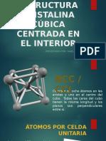 Estructuras Cristalina BBC CIENCIA DE MATERIALES