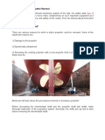 Procedure for Ship Propeller Renewal