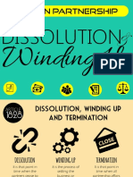 Law on Partnership & Corporation: Dissolution and Winding Up