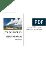 UTS Eksplorasi Geotermal