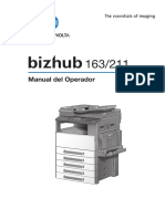 K Minolta Bizhub 163-211 User's Manual