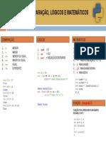 Operadores Lógicos, Matemáticos e Comparação