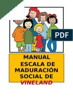 Manual Escala de Madurez Social de Vineland