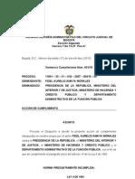 Sentencia Accin de Cumplimiento Ley 4 de 1992