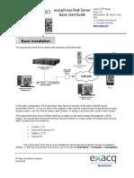 exacqVision Web Server Quick Start Guide