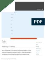 Hardening WordPress