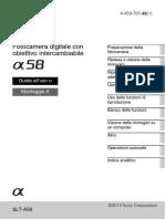 Manuale Sony a58