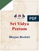 Bhajan Booklet
