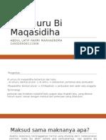 Al Umuru Bi Maqasidiha (Alqawaid)