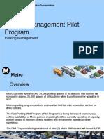 Parking Management Pilot Program - Full Board