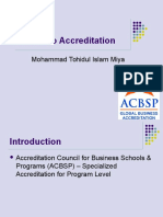 ACBSP – Access to Accreditation