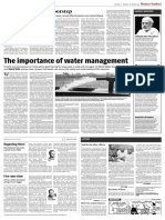 Water Management Business Standard, March 22, 2016