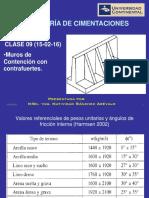 09) Ing. Cimentaciones - Clase 9 Contrafuertes (15!02!16)Rev Nasa (1)