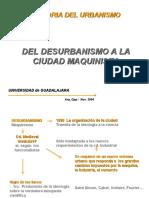 Del Desurbanismo a La CD. Maquinista