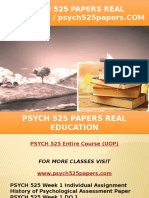 PSYCH 525 PAPERS Real Education - Psych525papers.com