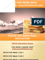 PSYCH 555 NERD Real Education - Psych555nerd.com