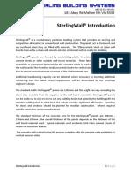 Sterlingwall Introdution Docx 02112012