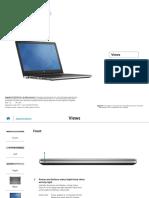 Inspiron 15 5558 Laptop Reference Guide en Us